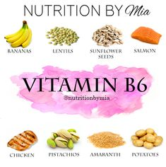 Nutrient Series: Vitamin - Nutrition By Mia Fitness Nutrition, Health And Nutrition, Health And Wellness, Fitness Gear, Fitness Motivation, Healthy Oils, Healthy Fruits, Vitamin B6 Foods, Interesting Health Facts
