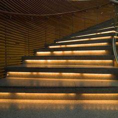 LED Strip Lights Illuminate a Stairway