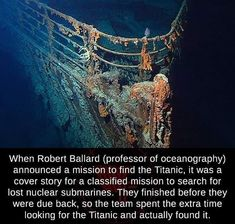 Robert Ballard, Unusual Facts, Interesting Facts, Wtf Fun Facts, Crazy Facts, Random Facts, Nuclear Submarine, Truth Hurts, Submarines