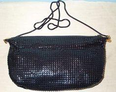 Vintage Black Mesh Purse Shoulder Strap Hong Kong