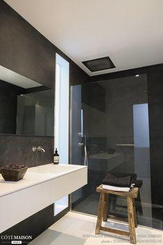 Bathroom: Deco ideas with black - Bathroom 02 Bathroom Renos, Bathroom Interior, Modern Bathroom, Bathroom Black, Bathroom Ideas, Bathrooms, Deco Zen, Contemporary Shower, Restroom Remodel