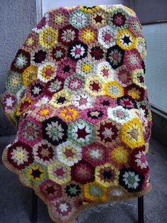 Granny Square Crochet Blanket...Baby Crib by GalyaKireva on Etsy, $130.00