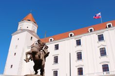 The main entrance and one corner of Bratislava Castle
