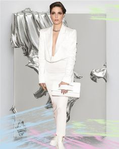 Trend Report: Manus x Machina in your Closet - White Blazer by Gestuz Elise