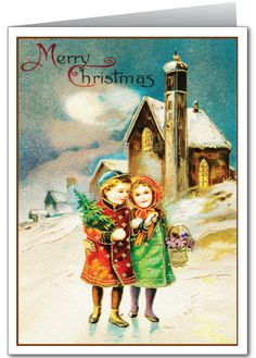 vintage+greeting+cards | > Holiday Greeting Cards > Old Fashioned Christmas Cards > Vintage ...