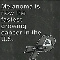 It's scary that most people think melanoma is something that can just be 'cut out'. Educate yourself please!!