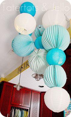 paper lantern chandelier 2