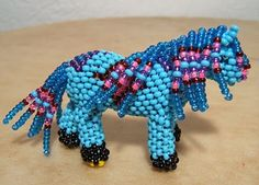 native american patterns printables   Faron Gahachu's smaller beaded colt with diamond pattern....