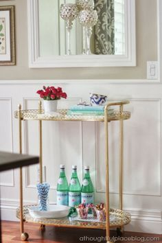 Bar Cart Styling: Family Friendly Version