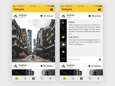 Instagram redesign by kaokao #Design Popular #Dribbble #shots
