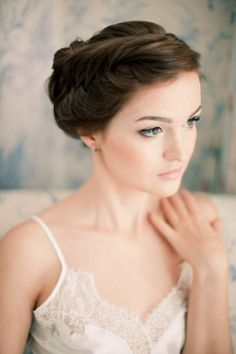 Natural bridal makeup   Anastasiya Belik Photography   http://burnettsboards.com/2013/12/powder-blue-white-wedding/