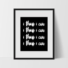 Motivational Wall Art I Think Can Dorm Room For The Home