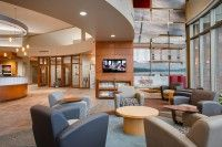 Bank Midwest, Reno lounge seating in collaborative/open space area. #NationalOffice #FurnitureWithPersonality