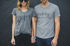 'Wifey' and 'hubby' t-shirts by Ily Couture, awesome photo by Jessa Kae