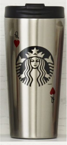 Insulated stainless steel tumbler that reimagines our Siren logo as a playing card. #Starbucks #DotCollection