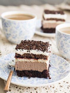 Sweet Desserts, No Bake Desserts, Eastern European Recipes, Polish Recipes, Yummy Eats, No Bake Cake, Cake Cookies, Cake Recipes, Sweet Tooth