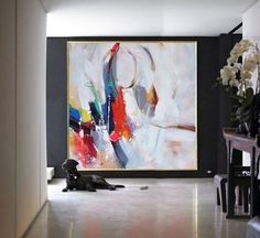 Handmade Large Contemporary Art Canvas Painting by CelineZiangArt: