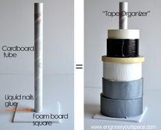 DIY tape organizer