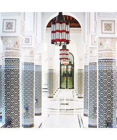 A travel diary through Marrakech—hotels, food and activities in Morocco: There are millions—literally millions—of exquisite hand-cut tiles throughout the property.