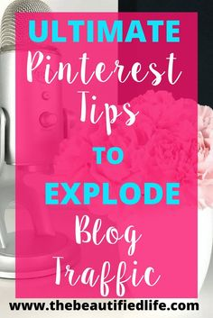 Pinterest is truly a game-changer for bloggers and biz owners. These Pinterest tips will explode your blog traffic and you'll see..
