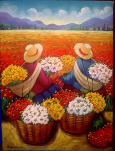 tarmeñas de tarde                                                                                                                                                     Más Mexican Artists, Mexican Folk Art, Small Canvas Paintings, Canvas Art Prints, Art And Illustration, Peruvian Art, Mexico Art, Exotic Art, Spanish Art