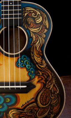Hand Painted Guitars, Ukuleles, Lichty Guitars-3 by cwds, via Flickr