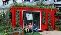 Resultado de imagem para garden roof shipping container