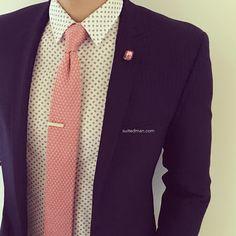 """Outfit details at SuitedManStyle.com   Blazer by @hugo_sandiego   Accessories by SuitedMan.com   #suitup @SuitedManStyle"""