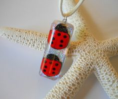 Lucky Lady Bug Necklace Girl's Jewelry by BeachHouseTreasures, $15.50