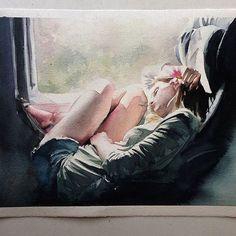 'Segunda-feira' watercolor by Marcos Beccari