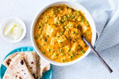 Easy to follow recipe for creamy matar paneer curry which is ready in 30 minutes.