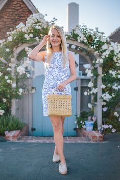 9f34091122a Persifor Summer Dress Blue And White Summer Dresses