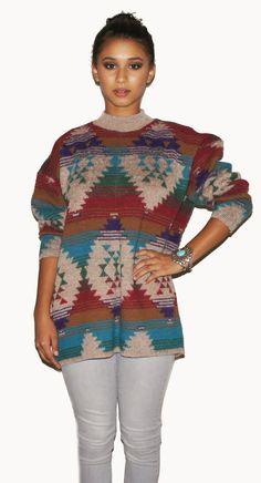 Vintage Aztec Sweater