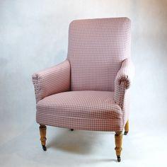 Fotel kratka różowa
