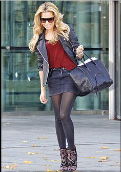 great casual style by sylvie van der vaart <3    loving the shoes ! SarahJM