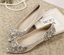 Vintage Sparkle 2015 Rhinestones Wedding Shoes Bridal Shoes With Bling Sequins Crystal Low Heel Women Shoes Wedding Shoes Bridal Accessories In . (marvelous Wedding Flats With Rhinestones Peach Wedding Shoes, Rhinestone Wedding Shoes, Wedding Flats For Bride, Flat Wedding Shoes, Bride Shoes, Prom Shoes, Sparkly Shoes, Low Heel Shoes, Low Heels