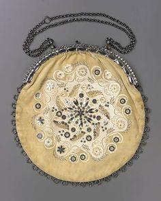 Western European evening bag, c. 1860-1880