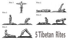 20 best five tibetan rites images  tibetan rites five