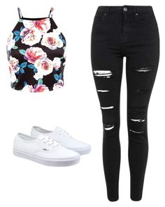 """""""Untitled #82"""" by prty1999 on Polyvore featuring Topshop, Vans, women's clothing, women's fashion, women, female, woman, misses and juniors"""