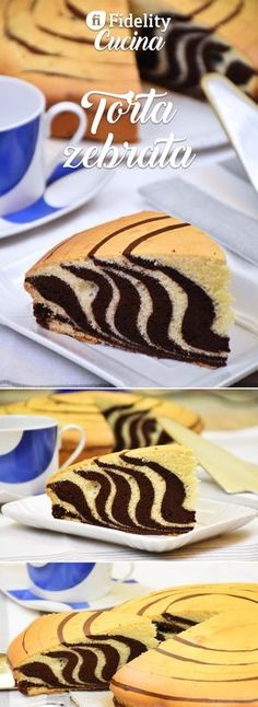 Torta zebrata The zebra cake is a simple but effective cake in which two different doughs merge creating a real magic. Torta Zebra, Zebra Cakes, Baking Recipes, Cake Recipes, Nutella Muffins, Resep Cake, Torte Cake, Best Italian Recipes, Different Cakes