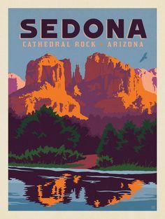 Sedona #SouthAmericaTravelPoster