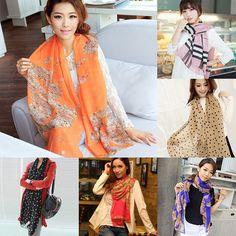 Women Fashion Pretty Long Soft Chiffon Scarf Wrap Shawl Stole Scarves Hot #Unbranded #Scarf #Casual