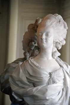 A bust of Marie Antoinette in Petit Trianon, Versailles, France