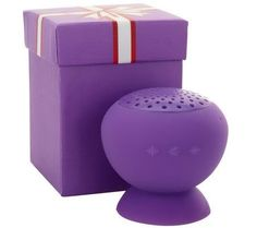 PopRock mini speaker. Good sound, doubles as wireless speaker for your cell phone. Water resistant. QVC $19.95