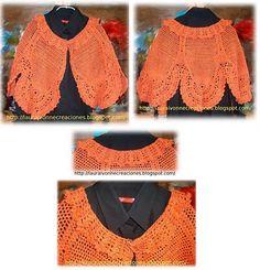 Capa en hilo de algodón tejida en crochet.