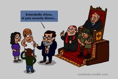 Mariano hablando de crisis con los ciudadanos