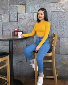 Catchy School Outfit Ideas For Teen Girl In 2019 - Damen Mode 2019 Teenage Outfits, Teen Fashion Outfits, Mode Outfits, Look Fashion, Outfits For Teens, Fall Outfits, Summer Outfits, Spring Outfits For Teen Girls, Spring Outfits For School