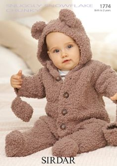 Knitting Pattern Baby snowflake chunky  sirdar 1774   size 0-2yrs  new by Bobbinswool on Etsy
