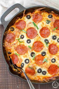 PIZZA TORTELLINI SKILLET CASSEROLE