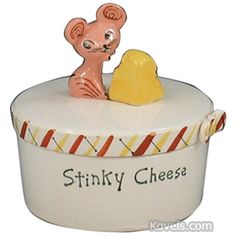 Google Image Result for http://www.kovels.com/images/price_guide/pottery___porcelain/holt-howard/holt-howard_cheese_dish_cover_stinky_cheese_mouse_cheese_finial_1958.jpg